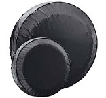 Spare Trailer Tire Cover Fits 13 inch Trailer Tires Black