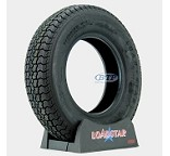 Trailer Tire ST185/80D13 13 in Bias Ply Load Range D 1725lb by Loadstar