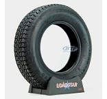 Trailer Tire ST225/75D15 Bias Ply 15 in Load Range D 2540lb by Loadstar