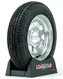 Boat Trailer Tire 5.30 x 12 on Galvanized Wheel 5 Lug 1045lb by Loadstar