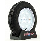 Trailer Tire 4.80 x 12 on White Painted Wheel 5 Lug Rim 990lb by Loadstar