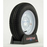 Trailer Tire 5.30 x 12 on White Painted Wheel 5 Lug Rim 1045lb by Loadstar