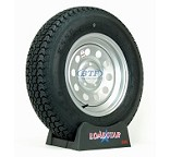 Trailer Tire ST205/75D15 Bias on Silver Modular Wheel 5 Lug by Loadstar