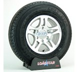 Boat Trailer Tire ST225/75R15 Radial on Aluminum Wheel 6 Lug by Loadstar