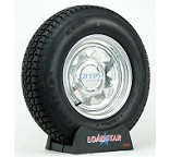 Boat Trailer Tire ST225/75D15 on Galvanized Wheel 6 Lug by Loadstar