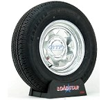 Boat Trailer Tire ST225/75R15 on Galvanized Wheel 6 Lug by Loadstar