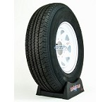Trailer Tire ST235/80R16 on White Spoke Steel Wheel 8 Lug by Loadstar