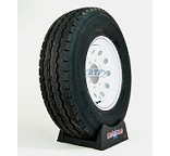Trailer Tire ST235/85R16 on White Mod Steel 8 Lug Wheel by Loadstar