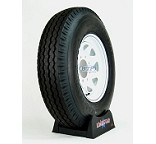 Light Truck Tire LT 750x16 on White Spoke Painted 8 Lug Wheel by Loadstar