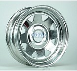 Boat Trailer Wheel 13 inch Galvanized 4 Lug Rim 4 on 4 Bolt Pattern