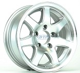 Aluminum Boat Trailer Wheel 14 inch 7 Spoke 5 Lug 5 on 4 1/2 Rim