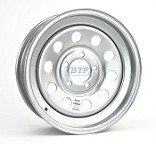 Trailer Wheel 14 inch Silver Modular Steel 5 Lug Rim 5 on 4 1/2