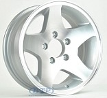 Aluminum Boat Trailer Wheel 14 inch 5 Star 5 Lug 5 on 4 1/2 Rim