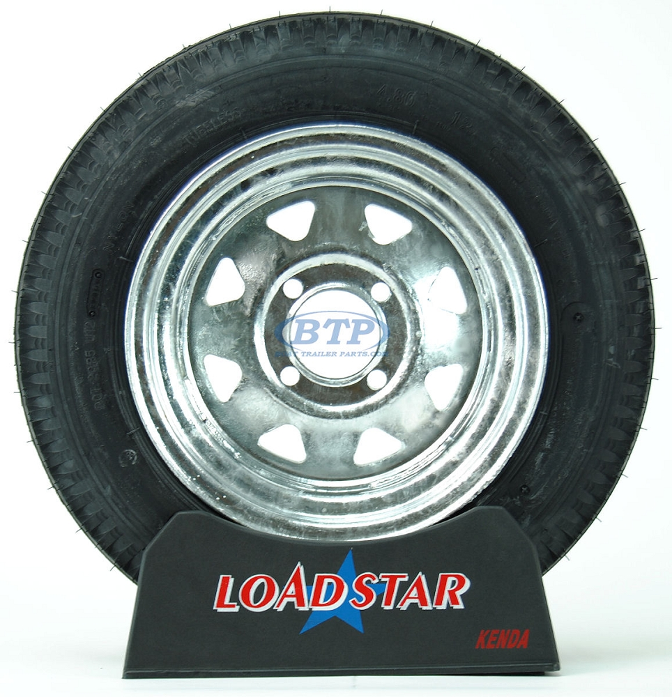 Boat Trailer Tire 4 80 X 12 On Galvanized 4 Lug Wheel 990lb By Loadstar