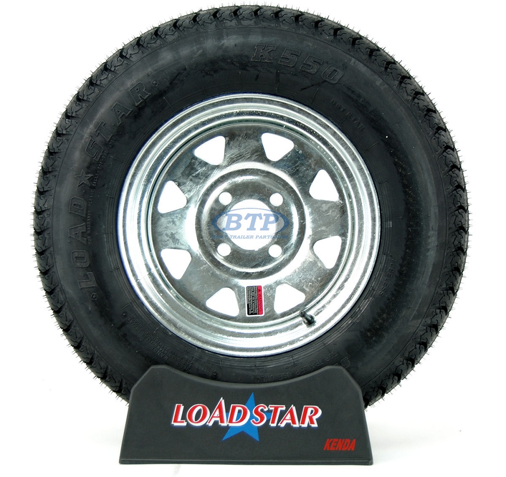 Boat Trailer Tire St175 80d13 On Galvanized Wheel 4 Lug Rim By Loadstar