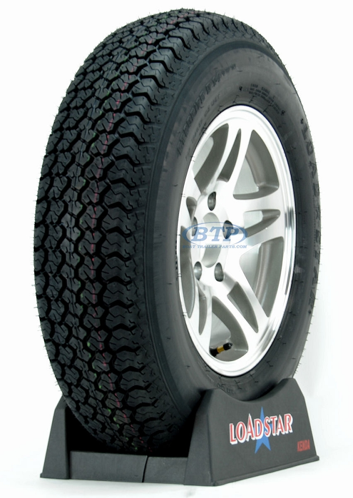 ST205//75D14 Bias Ply Trailer Tire and Galvanized 5 lug Spoke Trailer Wheel Assbly