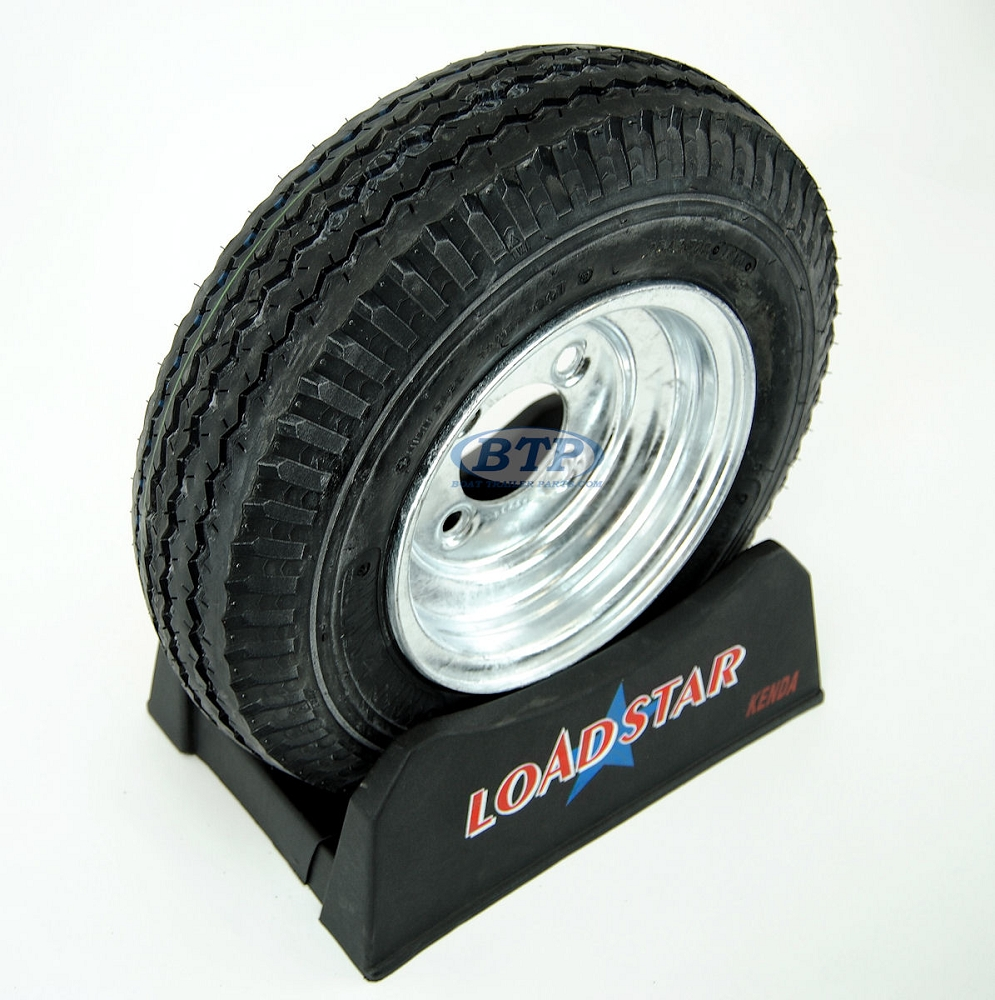 Boat Trailer Tire 4 80 X 8 On Galvanized Wheel 4 Lug Rim 590lb By