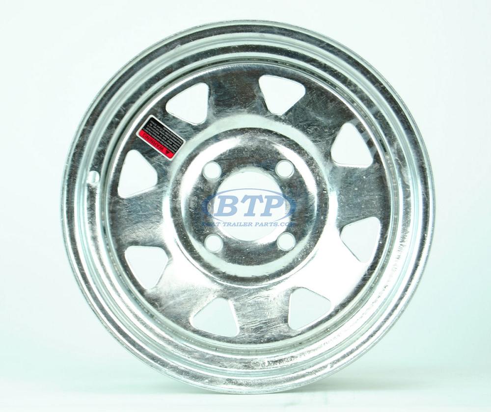 Boat Trailer Wheel 13 Inch Galvanized 4 Lug Rim 4 On 4 Bolt Pattern
