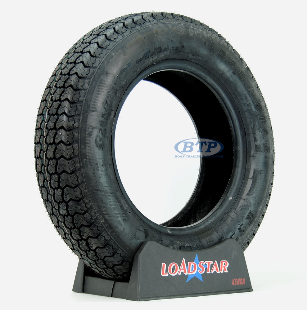 Trailer Tire St205 75d15 Bias Ply 15 In Load Range C 1820lb By Loadstar