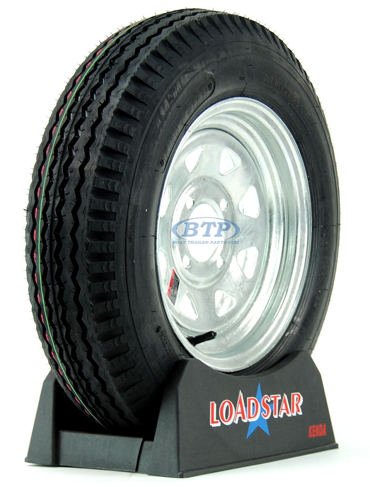 Boat Trailer Tire 5 30 X 12 On Galvanized Wheel 4 Lug 1045lb By Loadstar