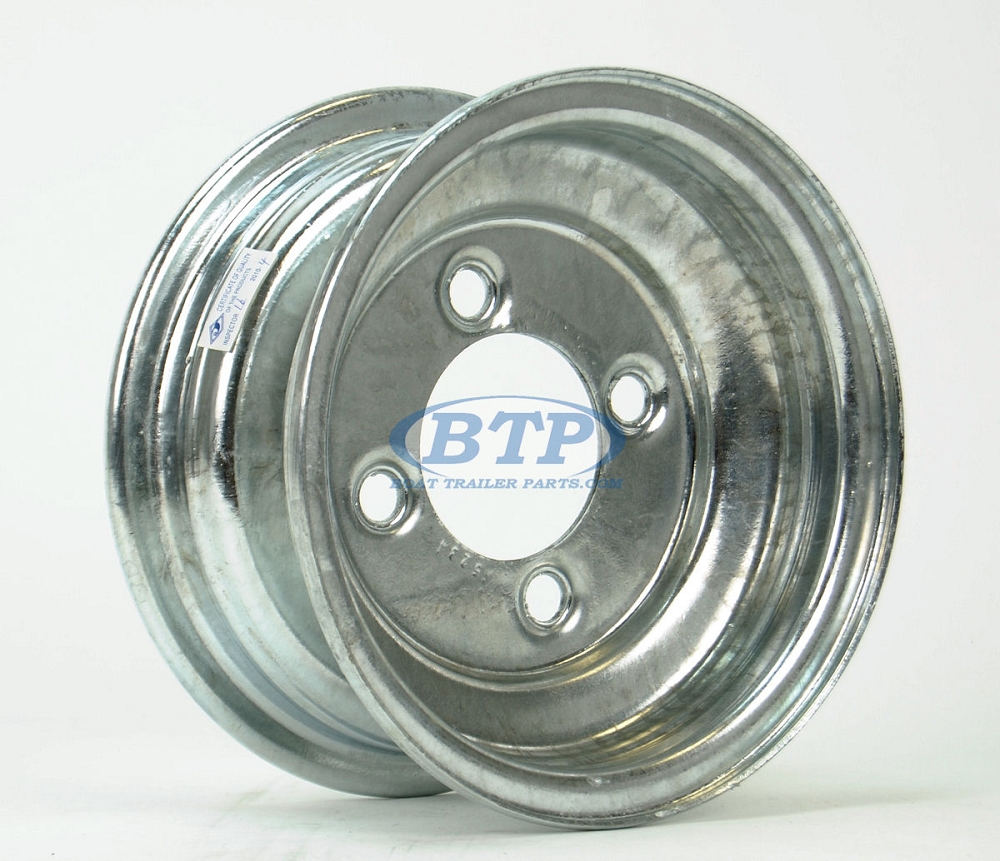 Boat Trailer Wheel 8 Inch Galvanized 4 Lug 4 On 4 Bolt Pattern