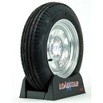 Boat Trailer Tire 4.80 x 12 on Galvanized 4 Lug Wheel 990lb by Loadstar