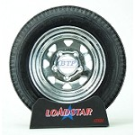 Boat Trailer Tire 4.80 x 12 on Galvanized 5 Lug Wheel 990lb by Loadstar