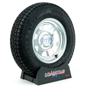 Boat Trailer Tire ST175/80D13 on Galvanized Wheel 4 Lug Rim by Loadstar