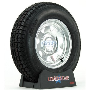 Boat Trailer Tire ST175/80D13 on Galvanized Wheel 5 Lug Rim by Loadstar