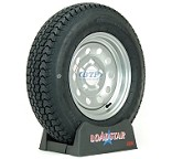 Trailer Tire ST175/80D13 Bias on Silver Modular Wheel 5 Lug by Loadstar