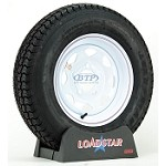 Trailer Tire ST175/80D13 Bias on White Painted Wheel 5 Lug by Loadstar