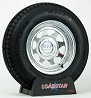 Boat Trailer Tire ST205/75D14 on Galvanized Wheel 5 Lug Rim by Loadstar