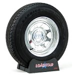 Boat Trailer Tire ST205/75R14 Radial on Galvanized Wheel 5 Lug by Loadstar