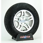 Boat Trailer Tire ST205/75R15 Radial on Aluminum Wheel 5 Lug Split Spoke