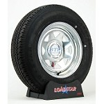 Boat Trailer Tire ST205/75R15 Radial on Galvanized Wheel 5 Lug by Loadstar