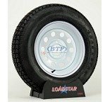 Trailer Tire ST205/75D15 Bias on White Mod Wheel 5 Lug by Loadstar