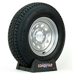 Trailer Tire ST225/75D15 Bias on Silver Modular Wheel 6 Lug by Loadstar