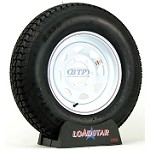Trailer Tire ST225/75D15 Bias Ply on White Spoke Wheel 6 Lug by Loadstar