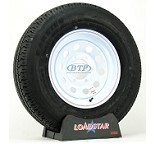 Trailer Tire ST225/75R15 Radial on White Modular Wheel 6 Lug by Loadstar