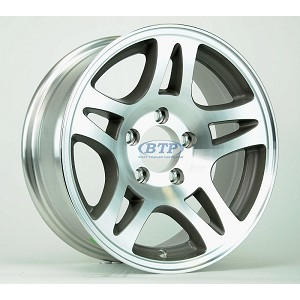 Aluminum Boat Trailer Wheel 15 inch Split Spoke 5 Lug 5 on 4 1/2