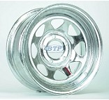 Galvanized Boat Trailer Wheel 15 inch 5 Lug Rim 5 on 4 1/2 Bolt Pattern