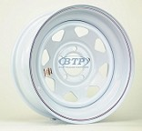 Trailer Wheel 15 inch White Powder Coated Spoke 5 Lug 5 on 4 1/2