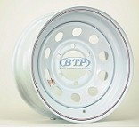 Trailer Wheel 15 inch 6 Lug Wheel White Modular Coated Steel Rim