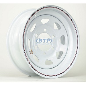 Trailer Wheel 15 inch 6 Lug Wheel White Painted Spoke Steel Rim