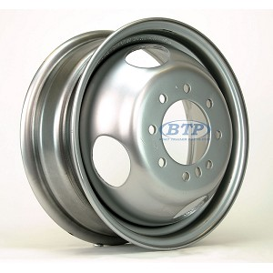 16 inch Dualie Trailer Wheel with a 4.77 inch Pilot Hole