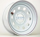 Trailer Wheel 16 inch White Modular Painted Steel 6 Lug 6 on 5 1/2