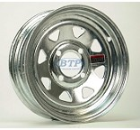Boat Trailer Wheel 12 inch Galvanized 4 Lug 4 on 4 Bolt Pattern