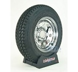 Trailer Tire ST205/75D15 Bias on Chrome Modular Wheel 5 Lug by Loadstar