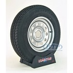 Trailer Tire ST205/75R15 Radial on Silver Mod Wheel 5 Lug by Loadstar